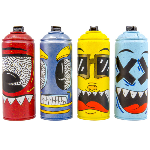 Set of 4 Monster Spray Cans - RodriDesigns - Wynwood Shop