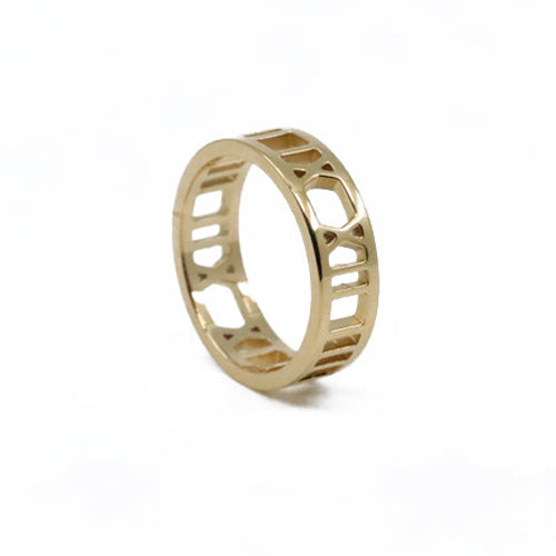 Roman Numerals Ring Gold Plated 2020 - Wynwood Shop