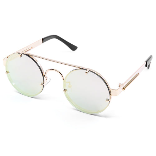 Round Steampunk Frameless Sunglasses - Wynwood Shop