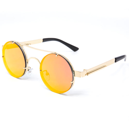 Round Steampunk Frameless Sunglasses