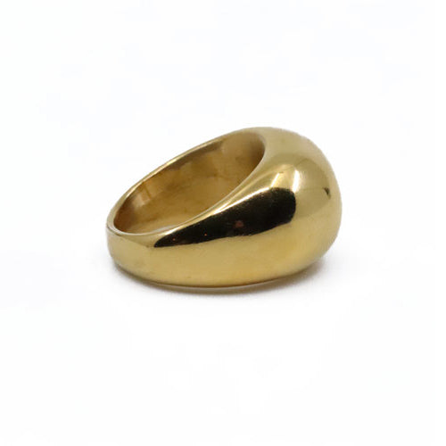 The Dome Chunky Gold Plated Ring - Wynwood Shop