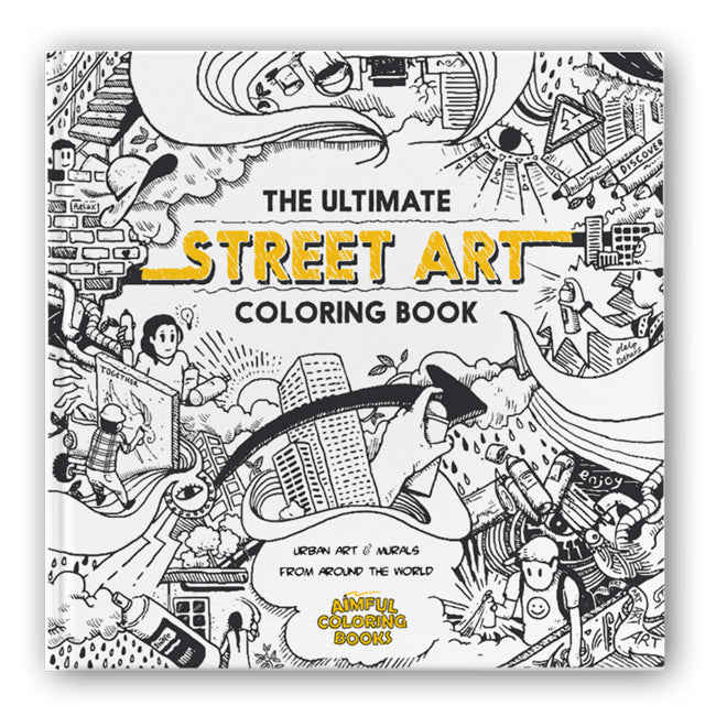 The Ultimate Street Art Coloring Book - Wynwood Shop