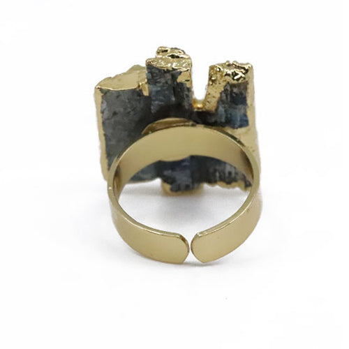 Kyanite Stack Electroplated Ring - Adjustable - Wynwood Shop