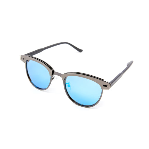 Wayfarer Silver/Blue Mirrored