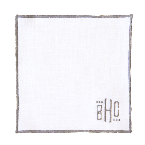 Duet Cocktail Napkins - White