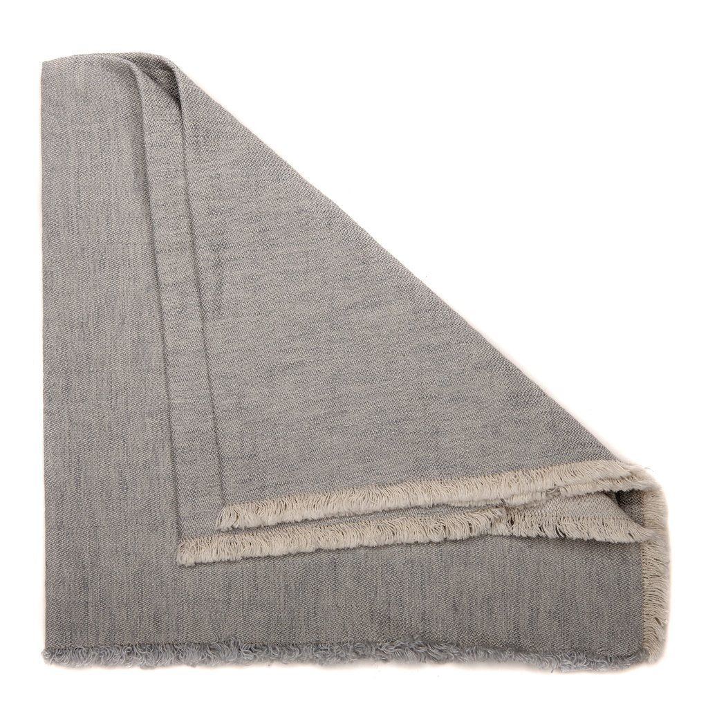 Washed Fringe Napkins - Grey