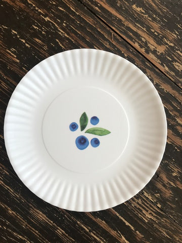 Small Blueberry Melamine Plates - Set of 4