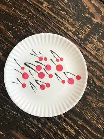Cherry Melamine Plates - Set of 4