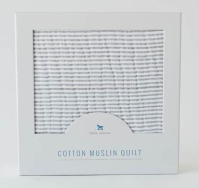 Muslin Quily . Grey Stripe