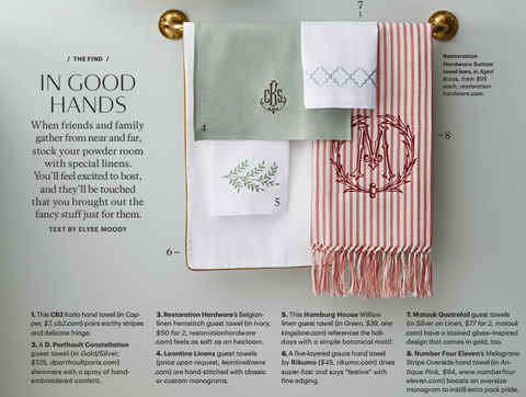 Melagrano Stripe Handtowel  - Featured in Martha Stewart Living