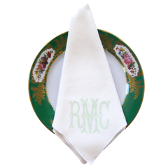 Duet Dinner Napkins . White & White