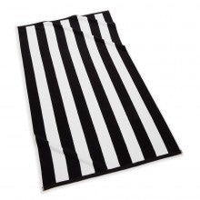 Cabana Stripe Beach Towel - Black & White