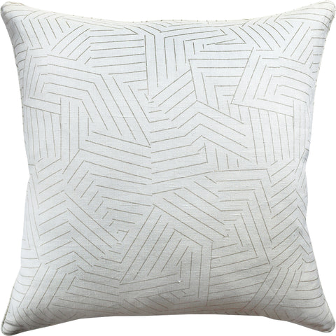 Deconstructed Stripe Decrotive Pillow - Greige