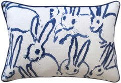 Bunny Pillow - Navy