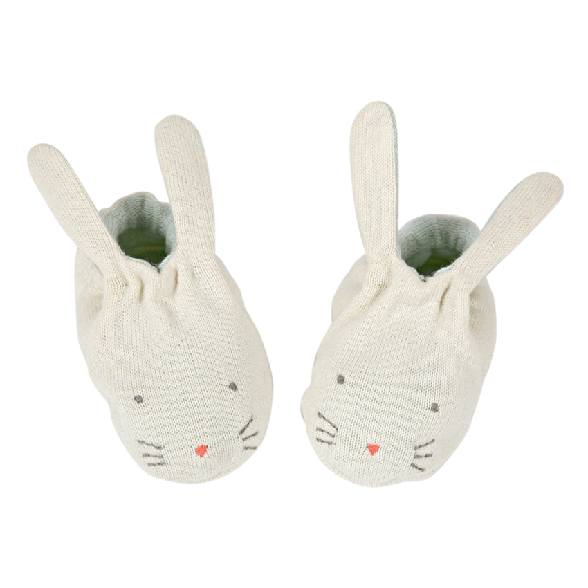 Baby Bunny Booties- Mint