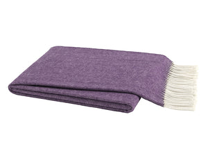 Italian Herringbone Throw - Plum