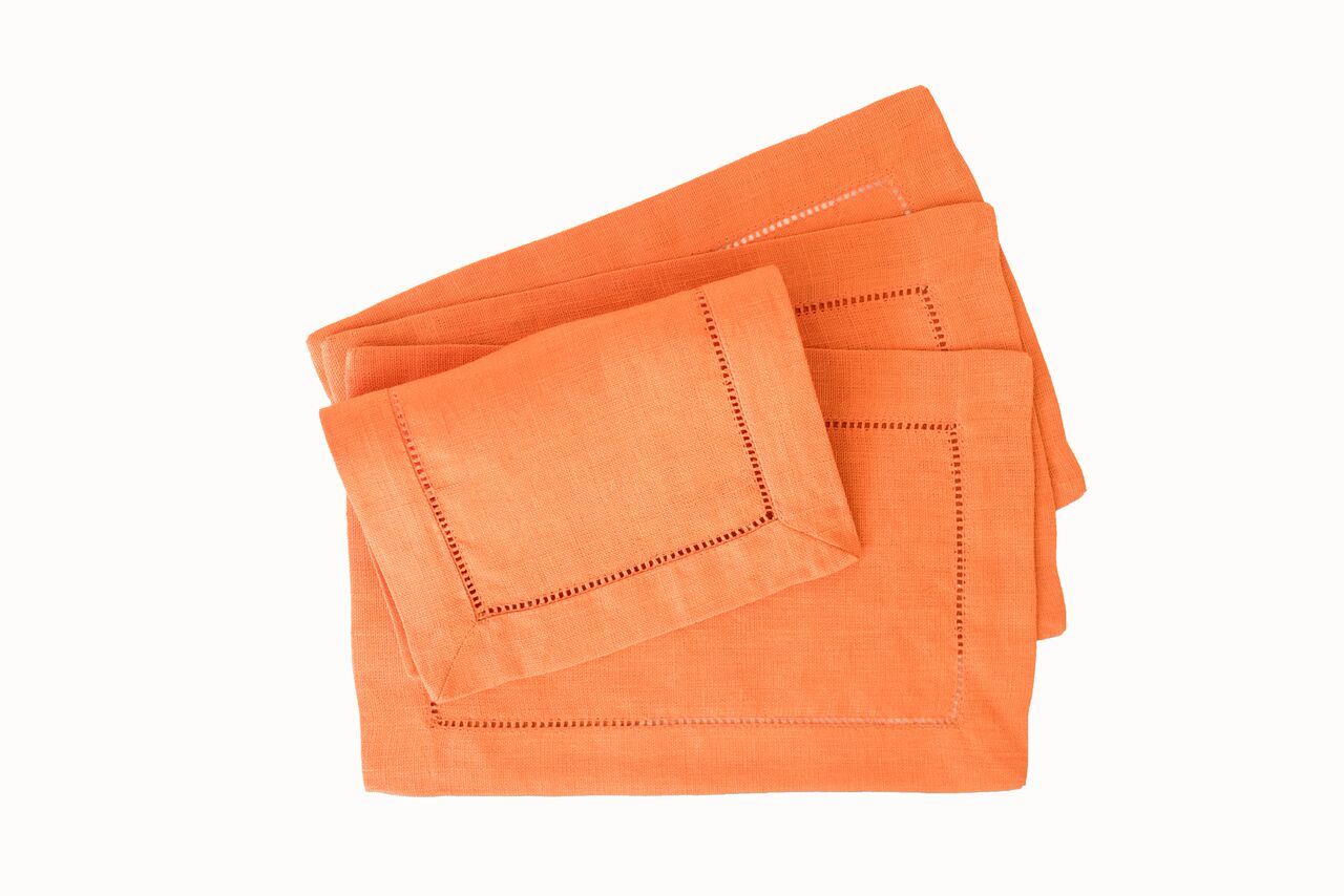 Festival Cocktail Napkins - Tangerine