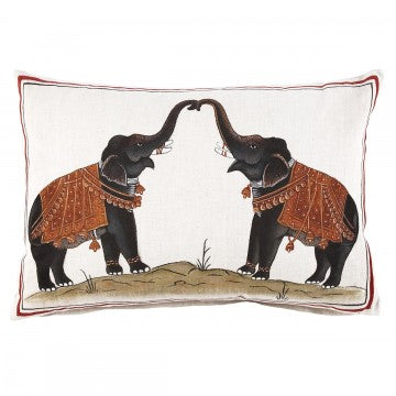 Two Elephants Decorative Pillow