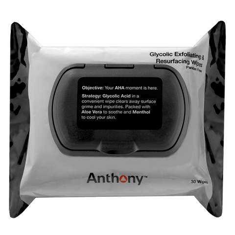 Glycolic Exfoliating + Resurfacing Wipes | 30 ct.-Face Wipes-Anthony-available at Landella Skincare of Downtown Tulsa
