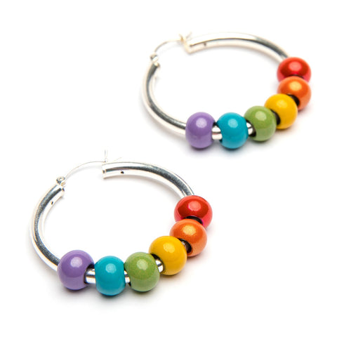 Rainbokie 6 Bead Sterling Silver Earring Fundraiser
