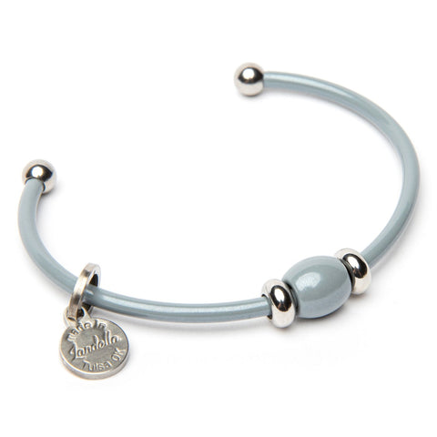 Stainless Steel Single Bead Cuff Bracelet