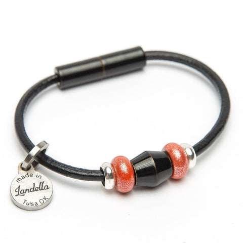 Leather 3 Bead Bracelet Fundraiser