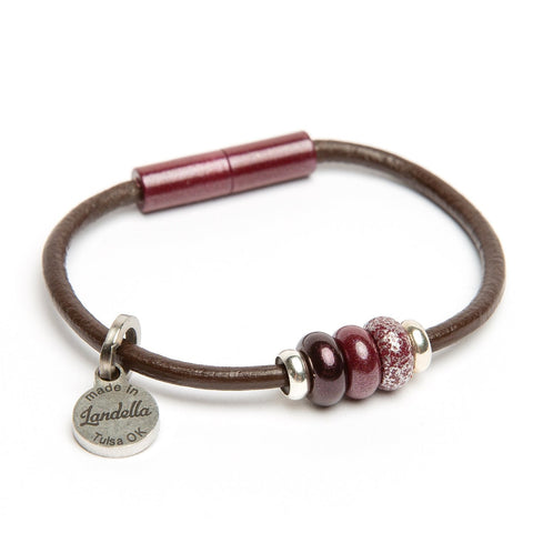 Leather 3 Bead Bracelet | Last Chance Sale