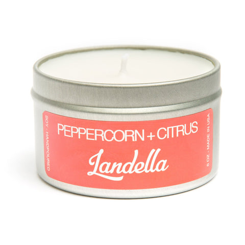 Peppercorn+Citrus - 6 oz. Travel Tin Soy Candle