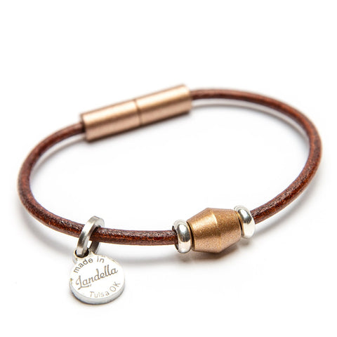 Leather Single Bead Bracelet | Color of the Month