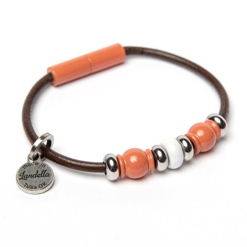 Deluxe 3 Bead Leather Bracelet Fundraiser