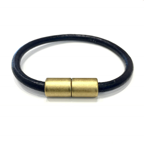 Brass and Black Bracelet-Bracelets-handmade by Landella jewelry of Tulsa