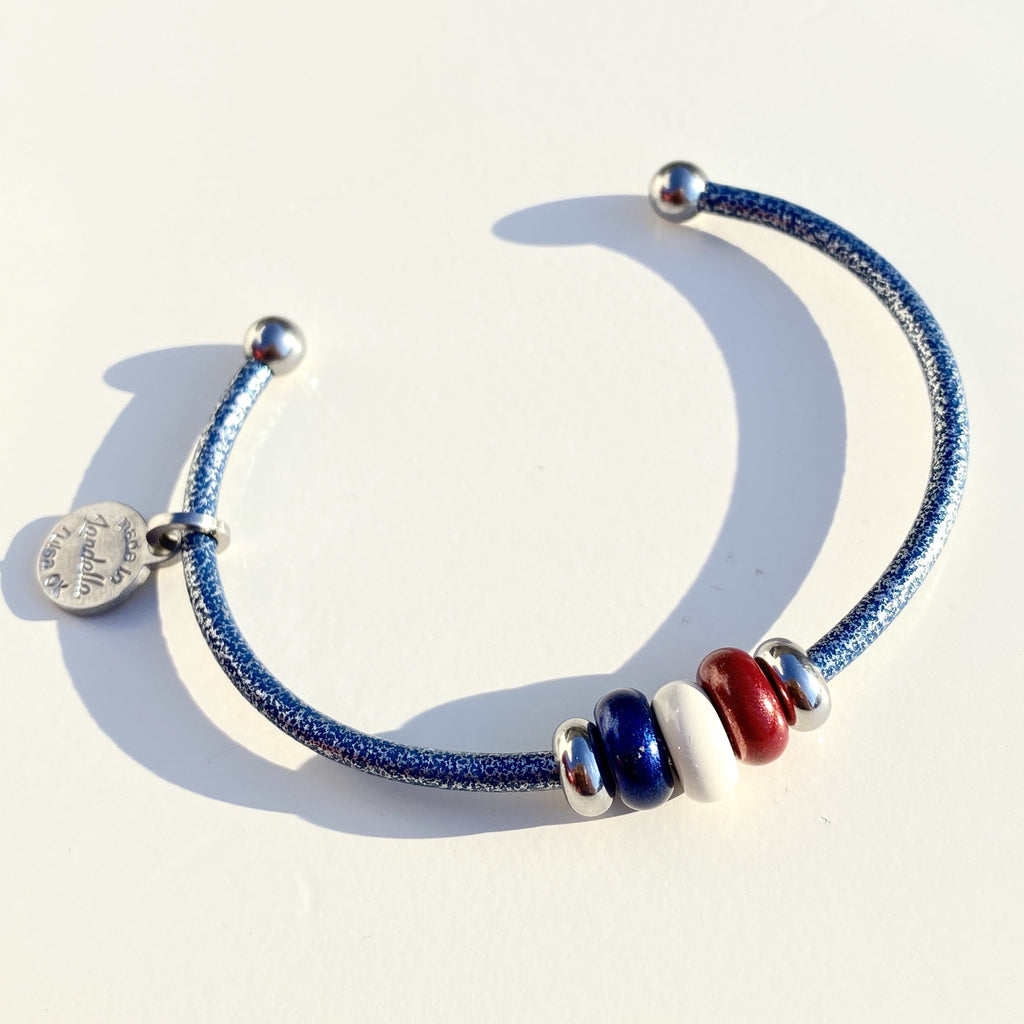 Old Glory 3 Bead Cuff
