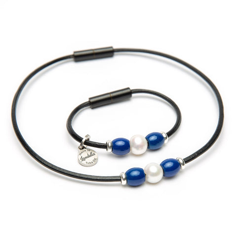 Pearl Trio Leather Bracelet & Necklace Combo Fundraiser