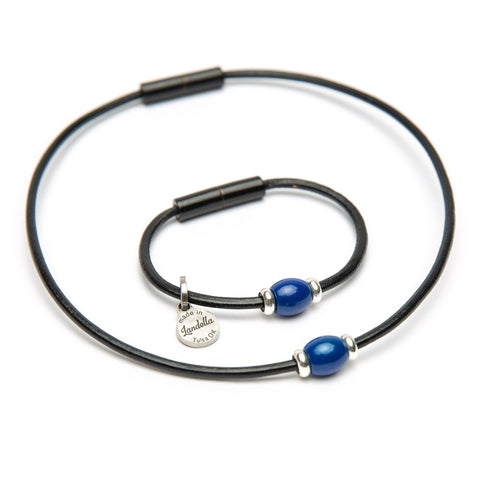 Single Bead Leather Bracelet & Necklace Combo Fundraiser