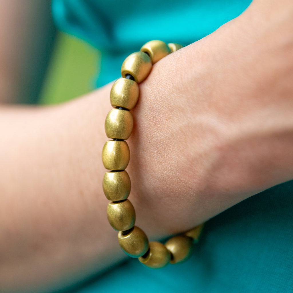 Full Dome Bead Leather Bracelet | Last Chance Sale