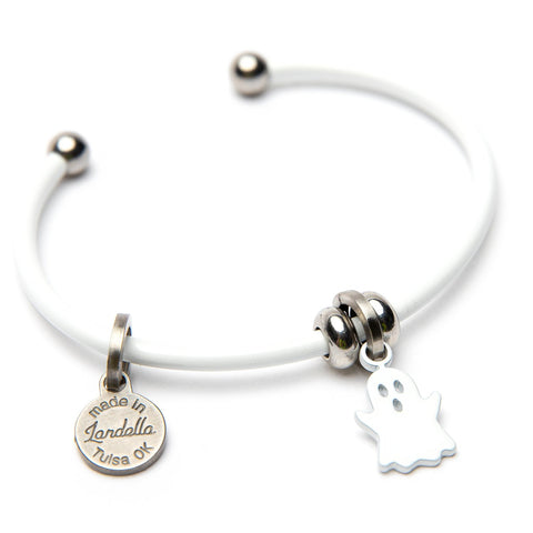 Booster the Ghost Halloween Charm Cuff Bracelet