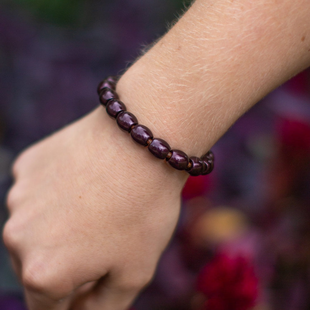 Full Dome Bead Leather Bracelet