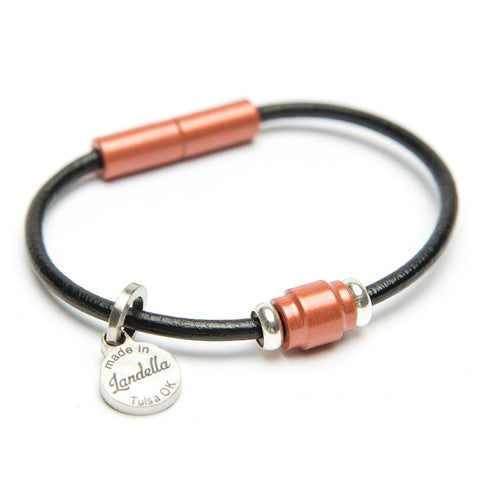 Leather Single Bead Bracelet