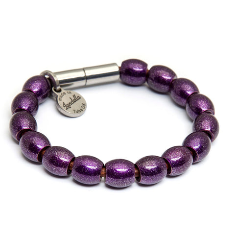 Full Dome Bead Leather Bracelet | Color of the Month