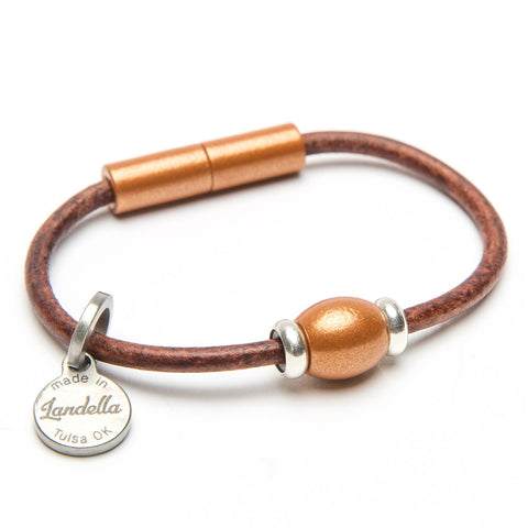 Single Bead Leather Bracelet