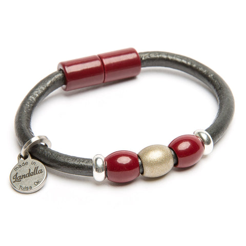 Landella jewelry in Tulsa makes very strong magnet clasp leather bracelets