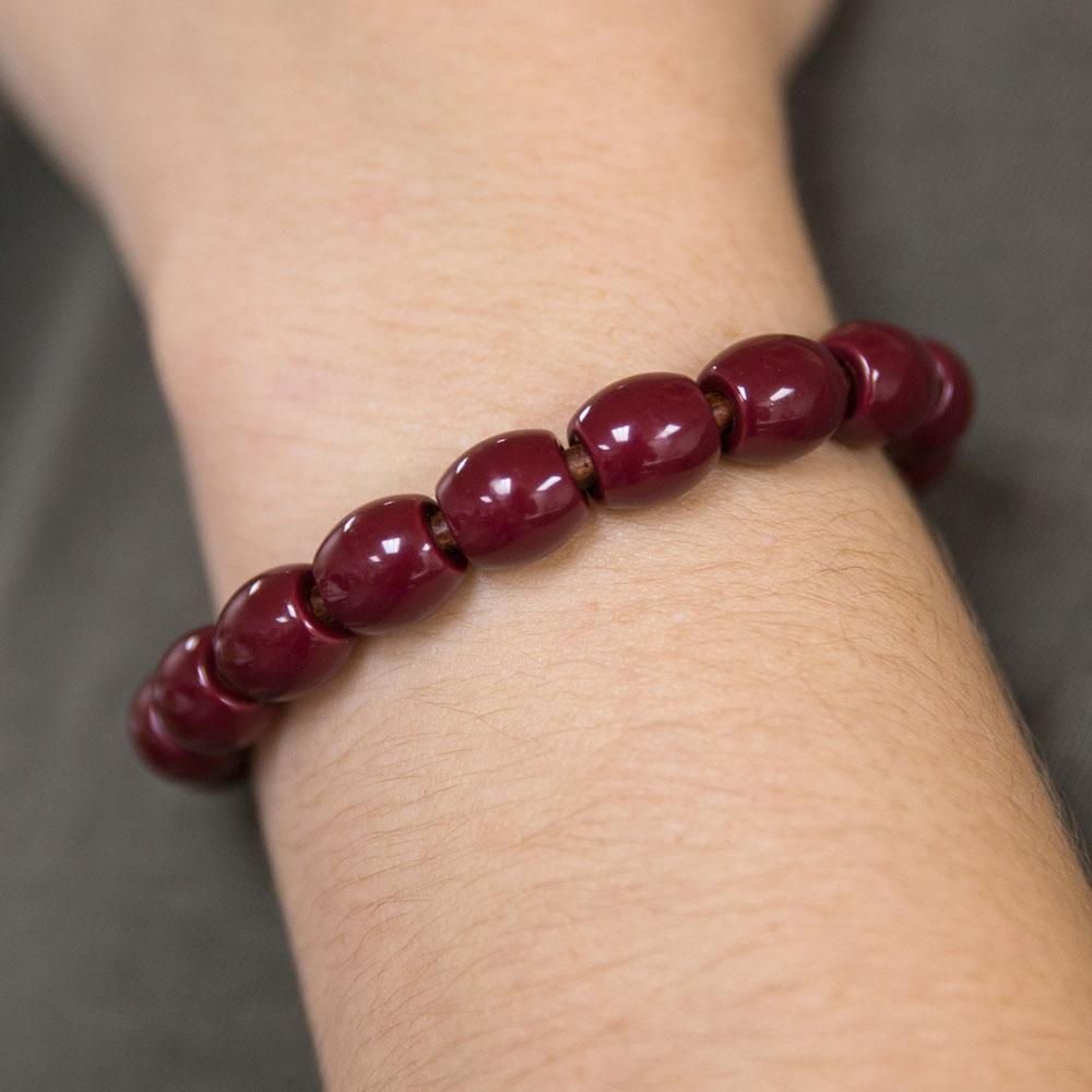 Landella bracelet in maroon with magnet clasp made in Tulsa Jewelry Store