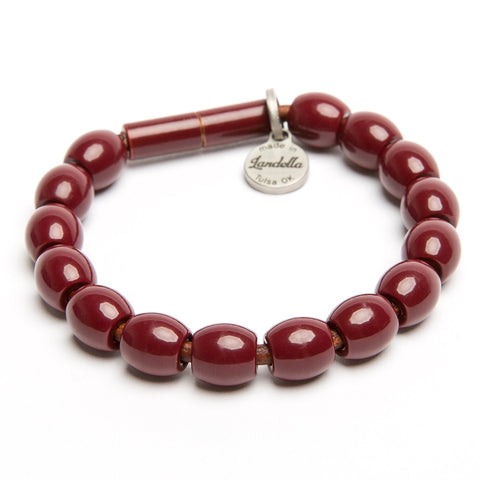 Landella Tulsa jewelry store bracelet in maroon with magnet clasp