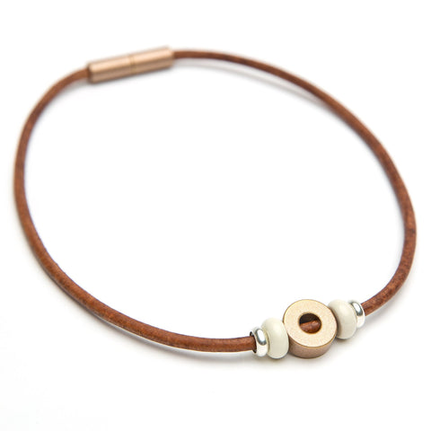 3 Bead Leather Choker