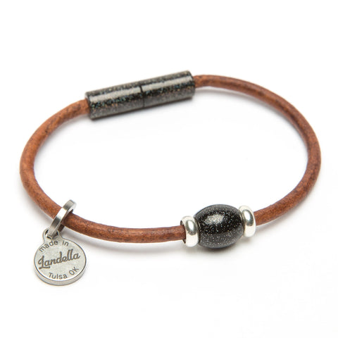 Leather Single Bead Bracelet-Bracelet-by Landella jewelry of Tulsa