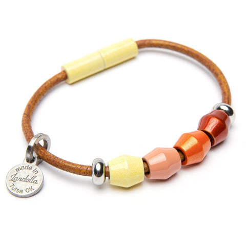 Leather 4 Bead Bracelet | Color of the Month