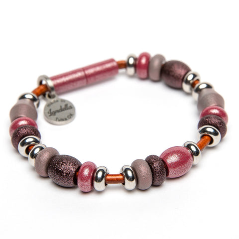 Multi Color Deluxe Bead Leather Bracelet