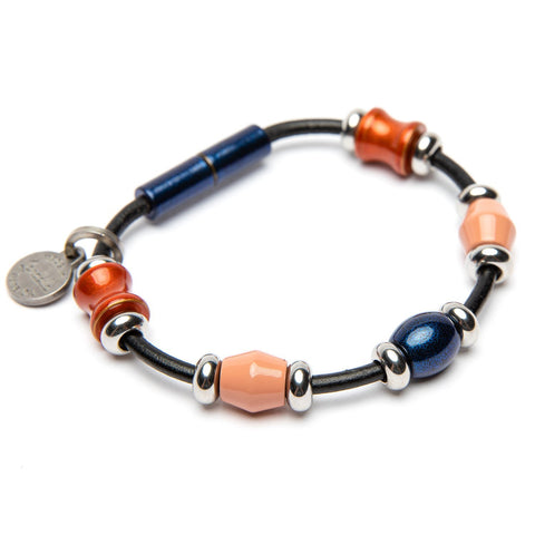 Leather 5 Bead Bracelet | Color of the Month
