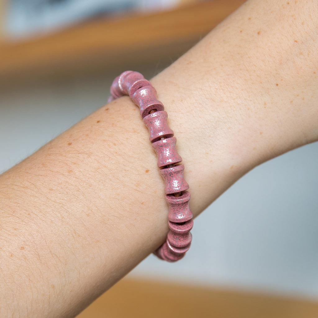 Full Spine Bead Leather Bracelet