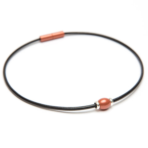 Leather Single Bead Choker